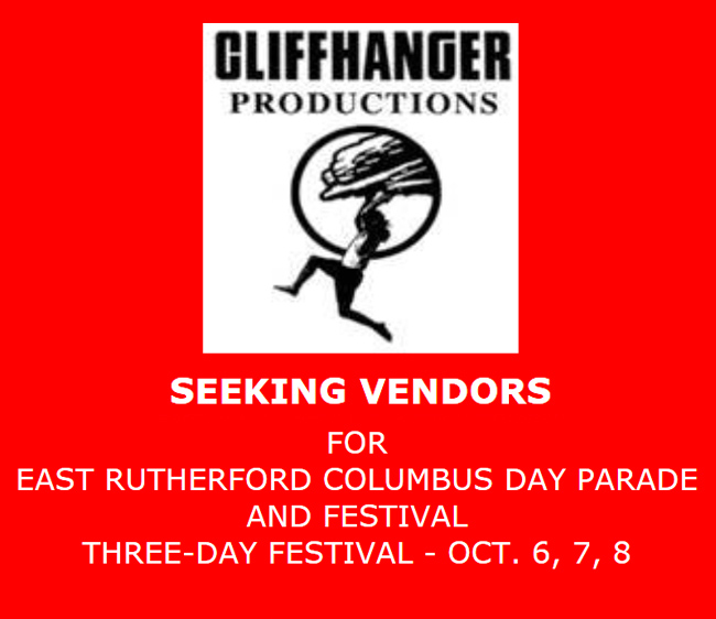 SEEKING VENDORS FOR EAST RUTHERFORD COLUMBUS DAY PARADE AND FESTIVAL
